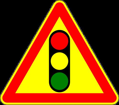 traffic lights attention sign