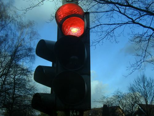 traffic lights red stop