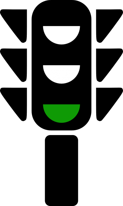 traffic lights signal green
