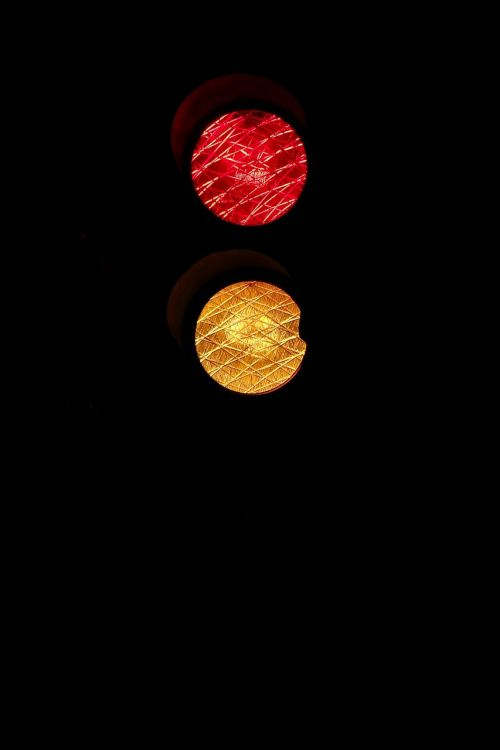 traffic lights red yellow wait