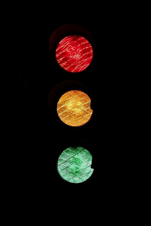 traffic lights road sign red
