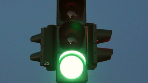 traffic lights green road