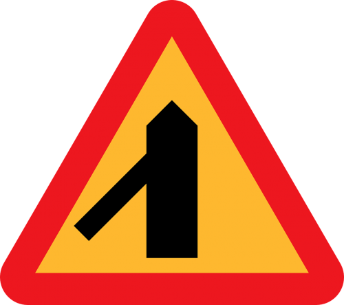 traffic merges from the left merge left merge