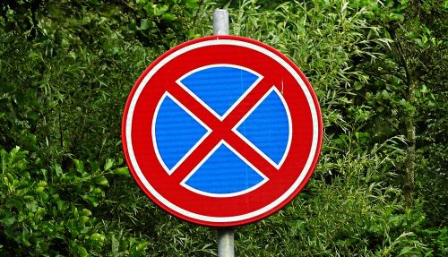 traffic sign no stopping prohibition