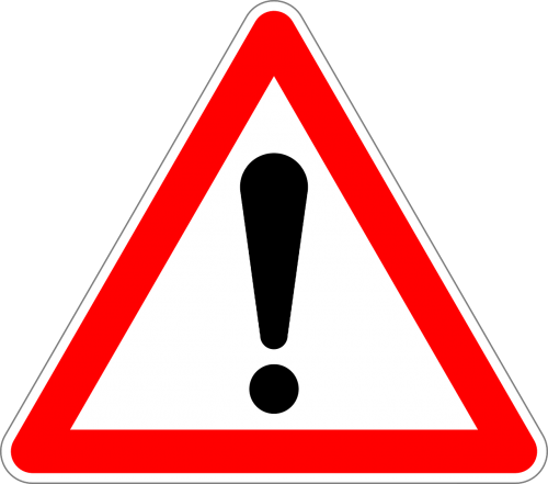 traffic sign sign proceed with extra caution