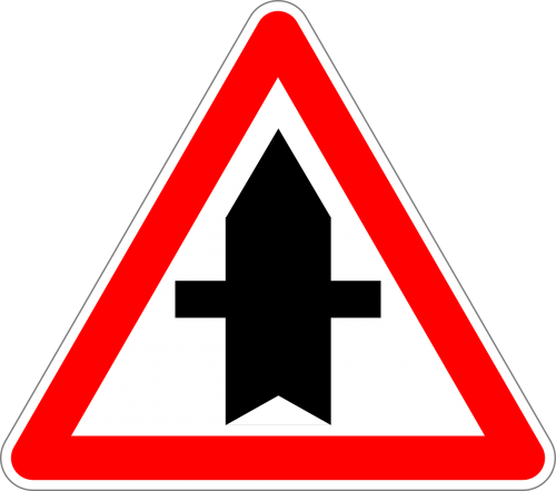 traffic sign sign right of way