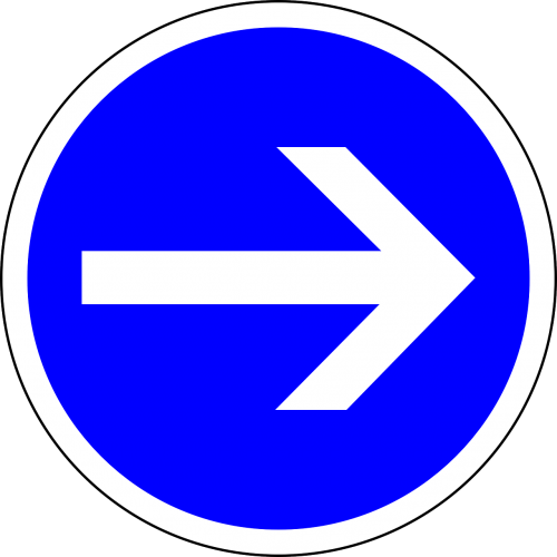 traffic sign turn right right