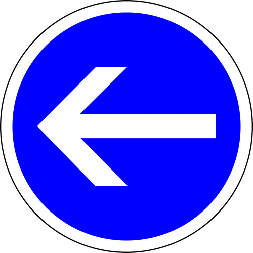 traffic sign turn left left