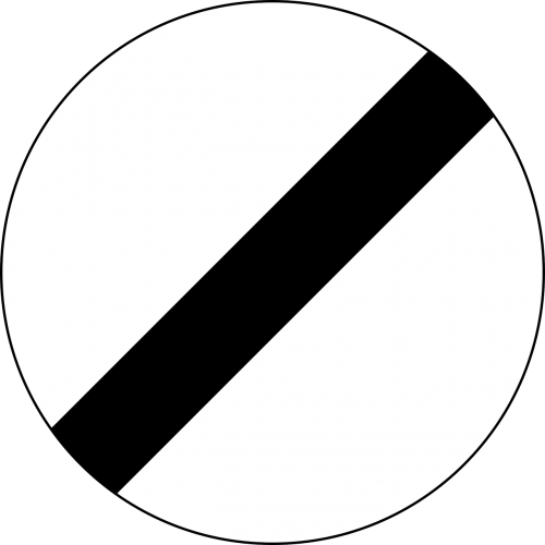 traffic sign end of all speed and passing limits sign