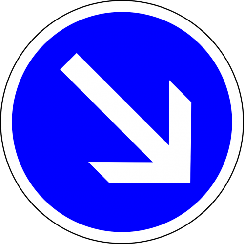 traffic sign sign keep right
