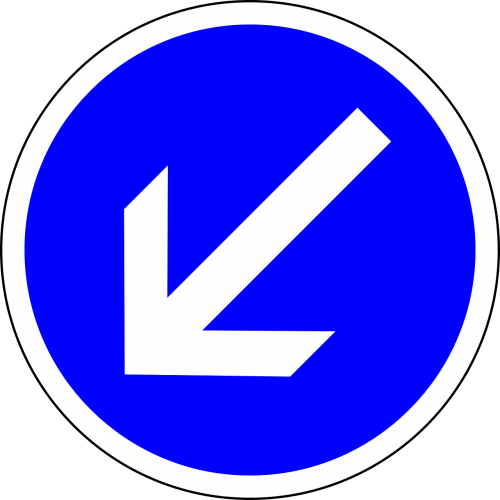 traffic sign keep left sign