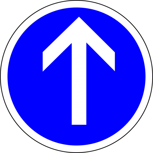 traffic sign straight ahead straight