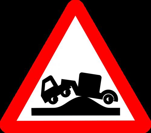 traffic sign symbol bump