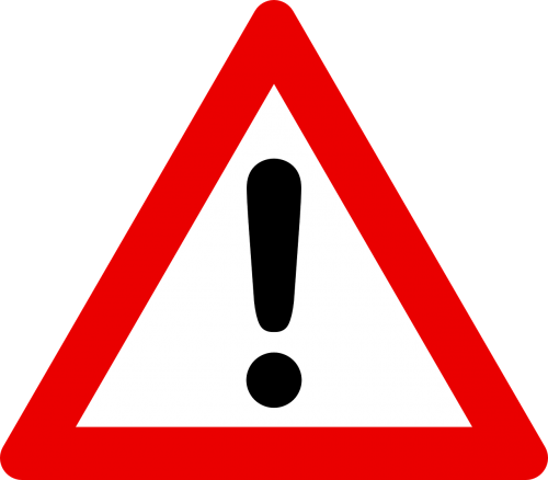 traffic sign attention road sign