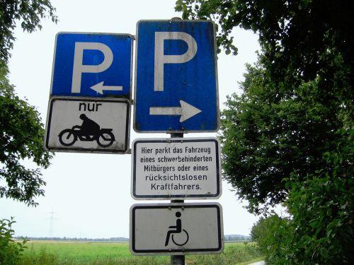 traffic sign road sign parking