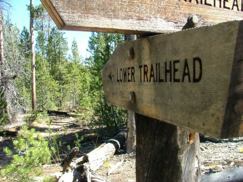 trail sign pointer