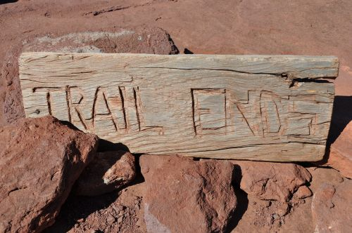 trail ends sign nature