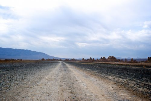 Trail Into Mojave Desert