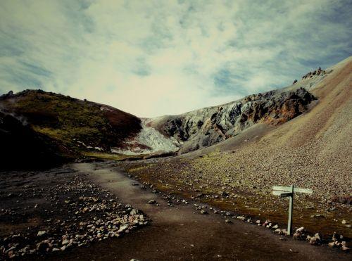 hikingtraillandmannalaugar-thorsmork,iceland,trail landmannalaugar - thorsmork