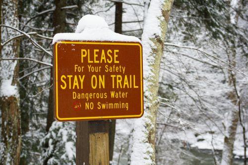Trail Warning Sign