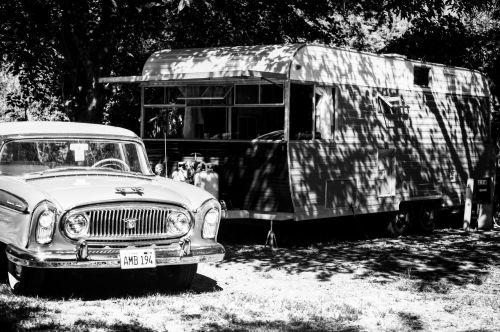 trailer old car vintage