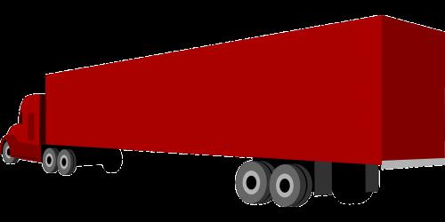 trailer goods traffic truck