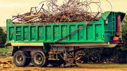 trailer loaded scrap