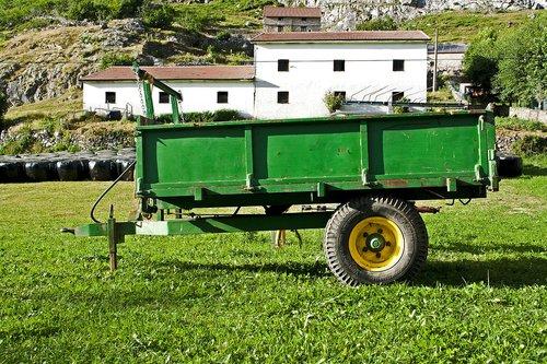trailer  rural  green