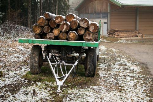 trailers wood wood trunks