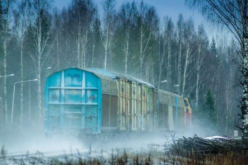 train winter the train track
