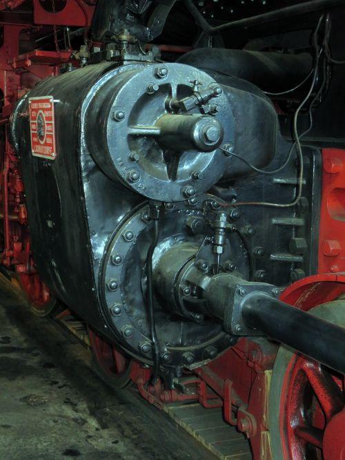 train steam locomotive drive axle