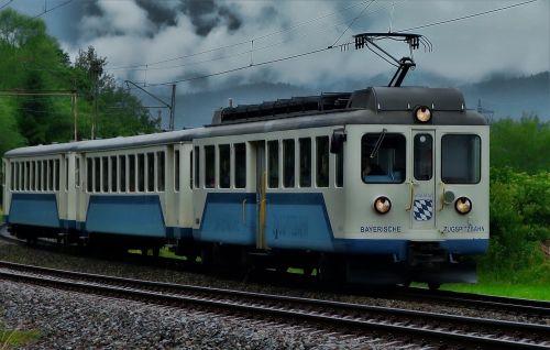 train zugspitze railway rail traffic