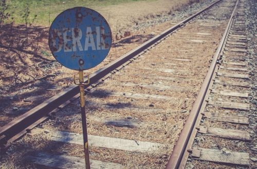 train,railway,track,metal,sign,derail,travel