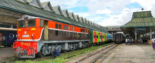 train locomotive yangon