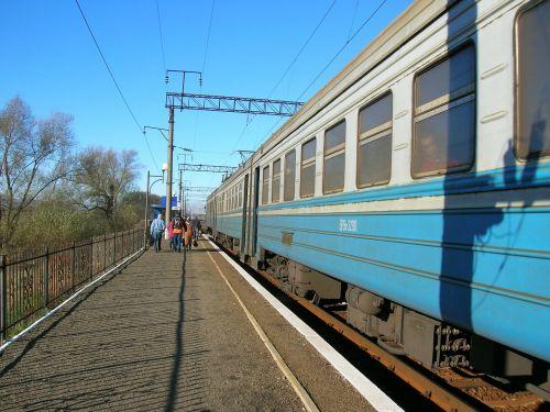 train elektrichka village