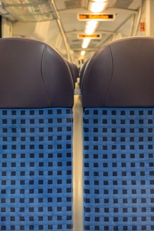 train seat railway
