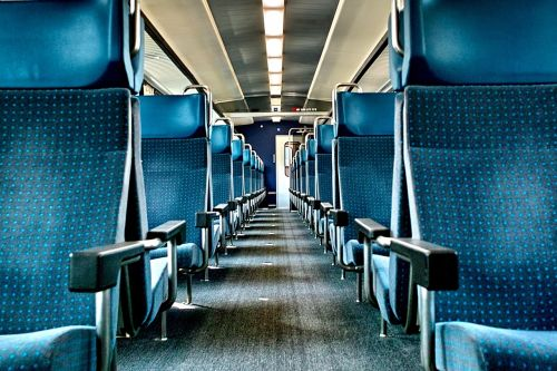 train inside train seats