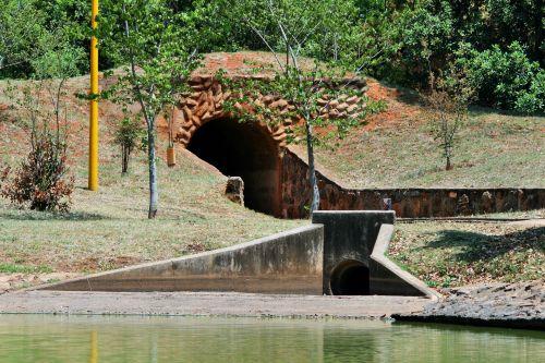 Train And Rain Water Tunnels