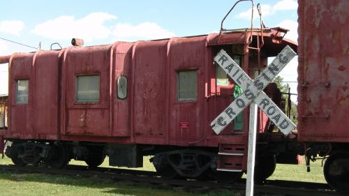 train car railroad crossing