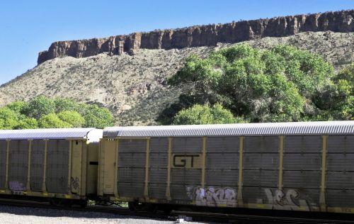 Train Cars In The Desert