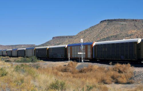 Train Passing Through Desert