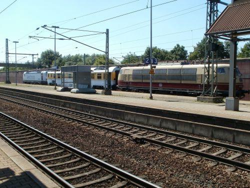 train station platform hockenheim