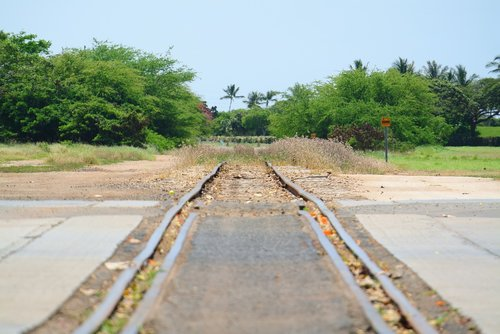 train tracks  ewa  hawaii
