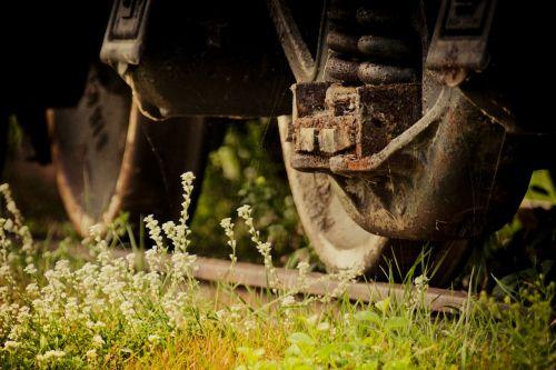 train wheel rust old