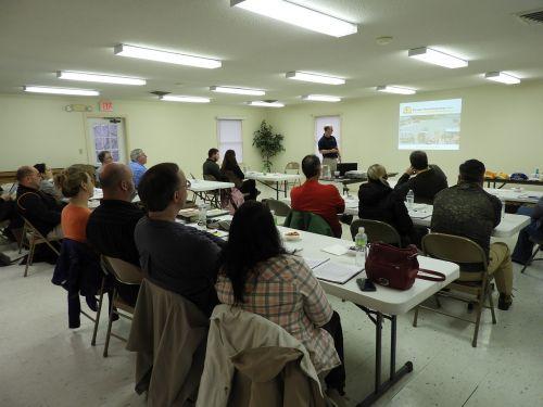 training volunteers learning