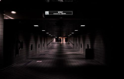 trains underground darkness