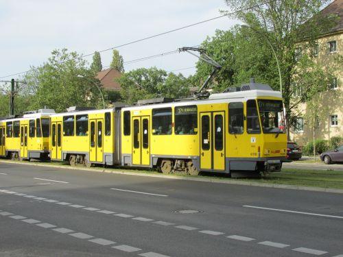 tramvajus,Berlynas,bvg,kapitalas,geltona,kelias,kelių ženklinimas,kelio,Vokietija