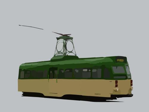 tram streetcar trolley car