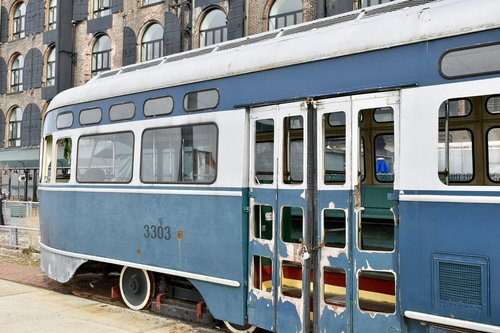 tram  old  rust
