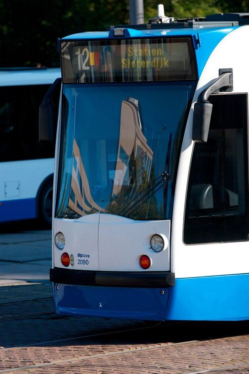 tram public transport amsterdam